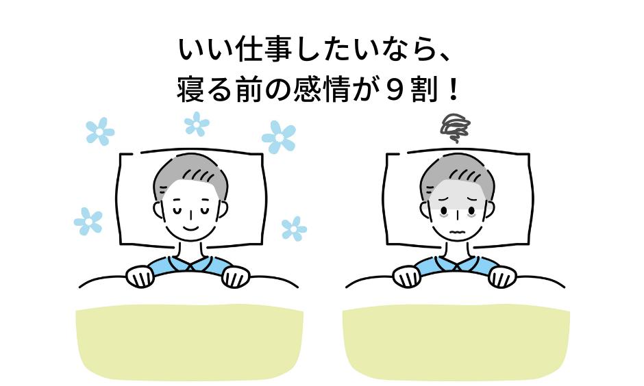 いい仕事したいなら、寝る前の感情が9割!